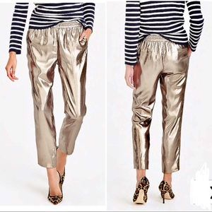 J. Crew Collection Silk Lame Pull-on Pants